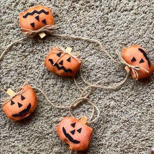 "Pumpkin Garland Primitive 60"""